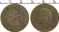 Изображение Монеты Монако 10 франков 1981 Бронза UNC- Раньер III