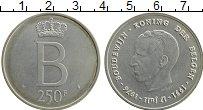 Изображение Монеты Бельгия 250 франков 1976 Серебро UNC-