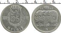 Изображение Монеты Бельгия 100 франков 1949 Серебро XF
