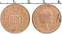 Изображение Монеты Великобритания 1 пенни 1989 Бронза XF Елизавета II.