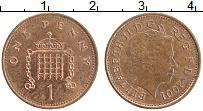Изображение Монеты Великобритания 1 пенни 2001 Бронза XF Елизавета II.