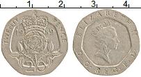 Изображение Монеты Великобритания 20 пенсов 1989 Медно-никель XF