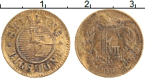 Изображение Монеты Дания 1/2 скиллинга 1857 Бронза XF Фредерик VII