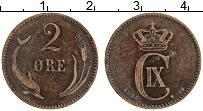 Изображение Монеты Дания 2 эре 1886 Бронза XF Кристиан IХ