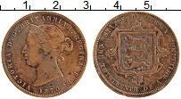 Изображение Монеты Остров Джерси 1/13 шиллинга 1870 Медь XF Виктория