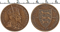 Изображение Монеты Остров Джерси 1/12 шиллинга 1909 Бронза XF
