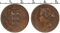 Изображение Монеты Остров Джерси 1/24 шиллинга 1888 Медь XF