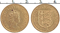 Изображение Монеты Остров Джерси 1/4 шиллинга 1957 Латунь XF Елизавета II.