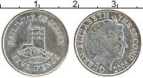 Изображение Монеты Остров Джерси 5 пенсов 2006 Медно-никель UNC- Елизавета II