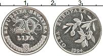Изображение Монеты Хорватия 20 лип 1994 Медно-никель UNC-