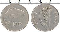 Изображение Монеты Ирландия 10 пенсов 1975 Медно-никель XF
