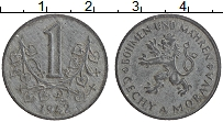 Изображение Монеты Богемия и Моравия 1 крона 1942 Цинк XF