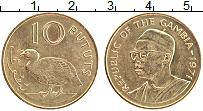 Изображение Монеты Гамбия 10 бутут 1971 Латунь UNC-