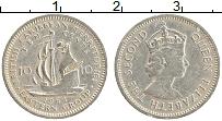 Изображение Монеты Карибы 10 центов 1964 Медно-никель XF Елизавета II