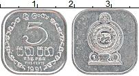 Изображение Монеты Шри-Ланка 5 центов 1991 Алюминий UNC-