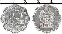 Изображение Монеты Шри-Ланка 10 центов 1991 Алюминий UNC-
