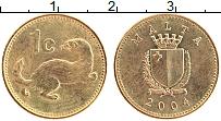 Изображение Монеты Мальта 1 цент 2004 Латунь XF