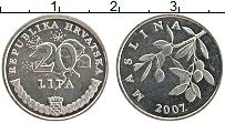 Изображение Монеты Хорватия 20 лип 2007 Медно-никель UNC-