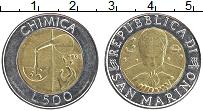 Изображение Монеты Сан-Марино 500 лир 1993 Биметалл UNC- Химия