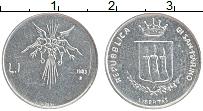 Изображение Монеты Сан-Марино 1 лира 1983 Алюминий UNC-