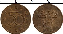 Изображение Монеты Швеция 50 эре 2001 Бронза XF