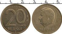 Изображение Монеты Бельгия 20 франков 1998 Бронза XF
