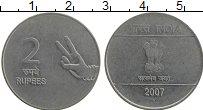 Изображение Монеты Индия 2 рупии 2007 Медно-никель UNC-