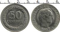 Изображение Монеты Колумбия 50 сентаво 1967 Медно-никель UNC