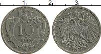 Изображение Монеты Австрия 10 геллеров 1908 Медно-никель XF