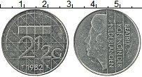 Изображение Монеты Нидерланды 2 1/2 гульдена 1982 Медно-никель XF