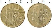 Изображение Монеты Нидерланды 5 гульденов 1985 Латунь XF Биатрикс