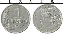 Изображение Монеты Бразилия 1 крузейро 1974 Медно-никель XF