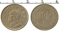 Изображение Монеты Тайвань 1 юань 1982 Медь XF