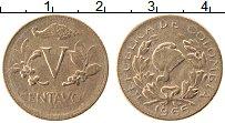 Изображение Монеты Колумбия 5 сентаво 1965 Бронза XF