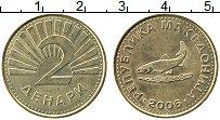 Изображение Монеты Македония 2 денара 2006 Латунь UNC-
