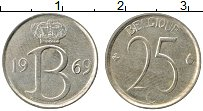 Изображение Монеты Бельгия 25 сантим 1969 Медно-никель XF Король Бодуэн