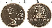 Изображение Монеты Гаити 1/2 эскалин 2012 Латунь UNC-