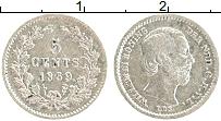 Изображение Монеты Нидерланды 5 центов 1859 Серебро XF