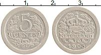 Изображение Монеты Нидерланды 5 центов 1908 Медно-никель XF