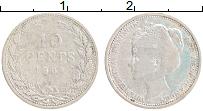 Изображение Монеты Нидерланды 10 центов 1904 Серебро XF- Вильгельмина