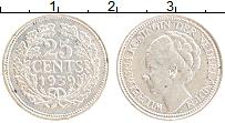 Изображение Монеты Нидерланды 25 центов 1939 Серебро XF Вильгельмина