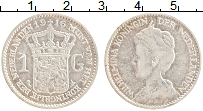 Изображение Монеты Нидерланды 1 гульден 1916 Серебро XF