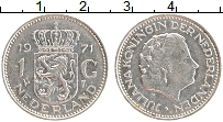 Изображение Монеты Нидерланды 1 гульден 1971 Медно-никель XF Юлиана