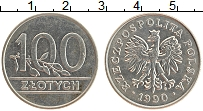 Изображение Монеты Польша 100 злотых 1990 Медно-никель UNC-