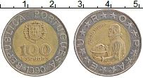 Изображение Монеты Португалия 100 эскудо 1990 Биметалл XF Педро Нуньес