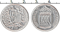 Изображение Монеты Сан-Марино 10 лир 1973 Алюминий UNC-