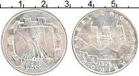Изображение Монеты Сан-Марино 500 лир 1976 Серебро UNC- Герб. Дерево