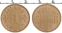Изображение Монеты Исландия 1 крона 1925 Латунь XF