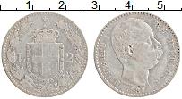 Изображение Монеты Италия 2 лиры 1887 Серебро XF Умберто I