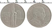 Изображение Монеты Италия 2 лиры 1924 Медно-никель XF